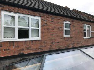 White upvc windows before spraying