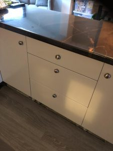 RAL 7047 Grey sprayed kitchen